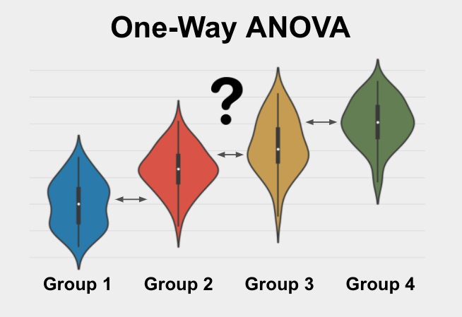 The One-Way ANOVA is a statistical test used to determine if 3 or more groups are significantly different from each other on a variable of interest.
